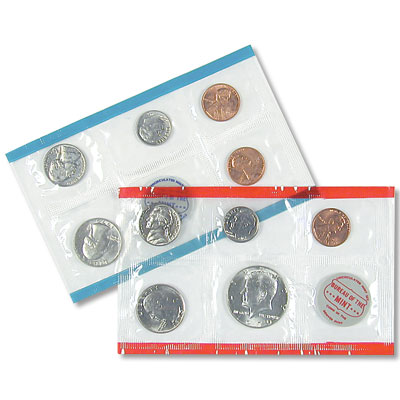 Image for 1970 U.S. Mint Set (10 Coins) with Large Date Lincoln Cent, Uncirculated from Littleton Coin Company