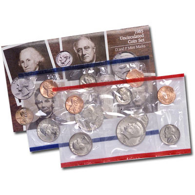 Image for 1985 U.S. Mint Set (10 coins), Uncirculated from Littleton Coin Company