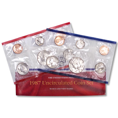 Image for 1987 U.S. Mint Set (10 coins), Uncirculated from Littleton Coin Company