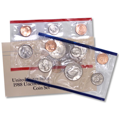 Image for 1988 U.S. Mint Set (10 coins), Uncirculated from Littleton Coin Company