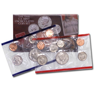 Image for 1990 U.S. Mint Set (10 coins), Uncirculated from Littleton Coin Company