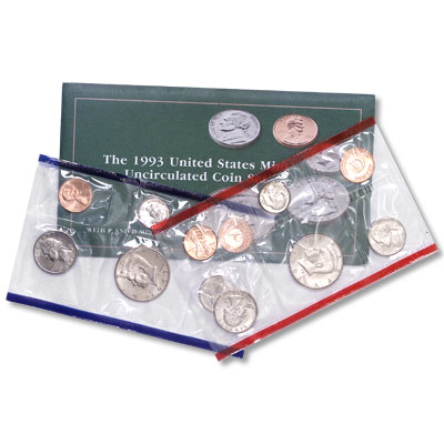 Image for 1993 U.S. Mint Set (10 coins), Uncirculated from Littleton Coin Company