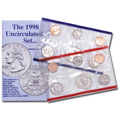 Image for 1998 U.S. Mint Set (10 coins), Uncirculated from Littleton Coin Company