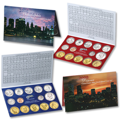 Image for 2008 U.S. Mint Set (28 coins), Uncirculated from Littleton Coin Company