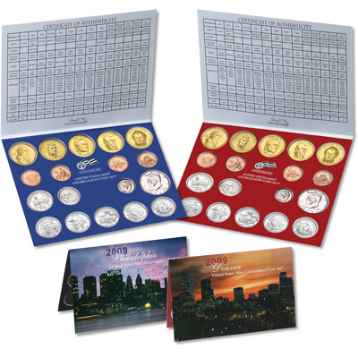 Image for 2009 U.S. Mint Set (36 coins), Uncirculated from Littleton Coin Company