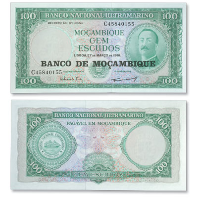 Image for ND (1976) Mozambique 100 Escudos, P#117, Uncirculated from Littleton Coin Company