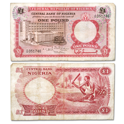 Image for ND(1967) Nigeria 1 Pound Note, P#8 from Littleton Coin Company