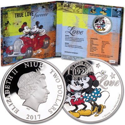 Image for 2017 Niue 1 oz. $2 Silver Disney Love from Littleton Coin Company