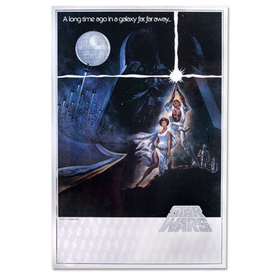 Image for 2018 Niue Silver $2 Foil Note - Star Wars from Littleton Coin Company