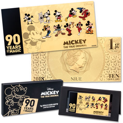 Image for 2018 Niue Gold $10 Mickey Mouse 90th Anniversary from Littleton Coin Company