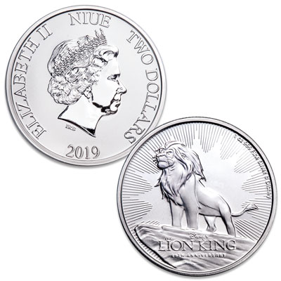 Image for 2019 Niue 1 oz. Silver $2 Lion King from Littleton Coin Company