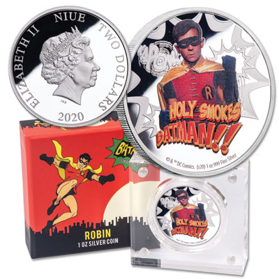 Image for 2020 Niue 1 oz. Silver $2 Batman - Robin from Littleton Coin Company