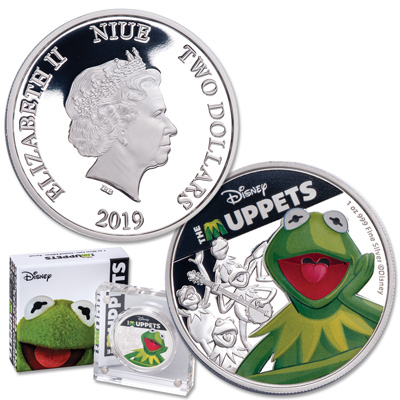 Image for 2019 Niue Silver $2 Muppets - Kermit from Littleton Coin Company