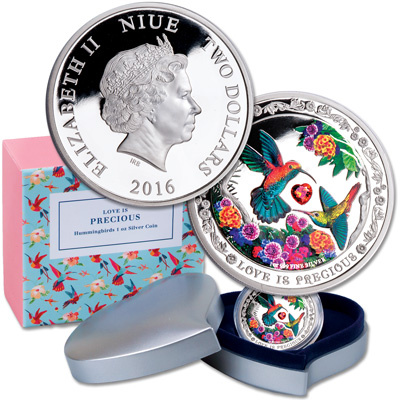 Image for 2016 Niue Silver $2 Love is Precious from Littleton Coin Company
