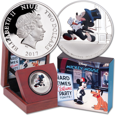 Image for 2017 Niue 1 oz. Silver $2 Mickey Through the Ages - Delayed Date from Littleton Coin Company
