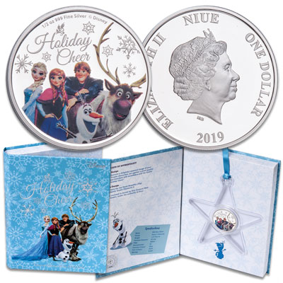 Image for 2019 Niue 1/2 oz. Silver $1 Disney's Frozen - Holiday Cheer from Littleton Coin Company