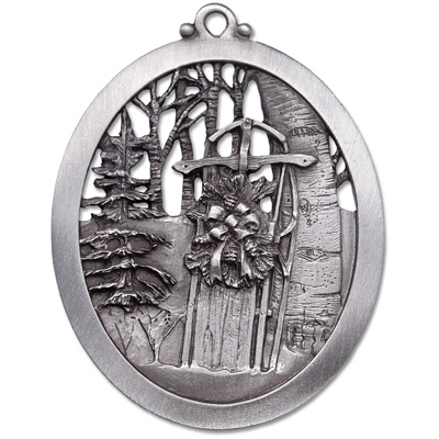 Image for Snow Sled Pewter Ornament from Littleton Coin Company