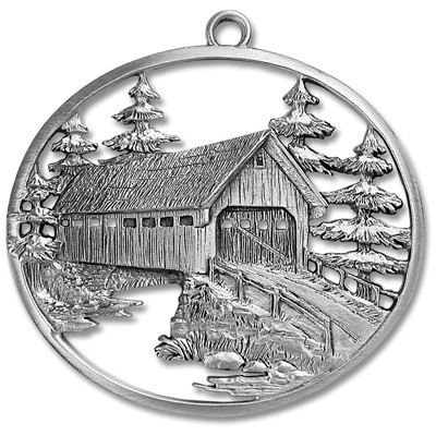 Image for Covered Bridge Pewter Ornament from Littleton Coin Company