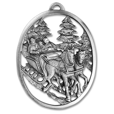 Image for Sleigh Ride Pewter Ornament from Littleton Coin Company