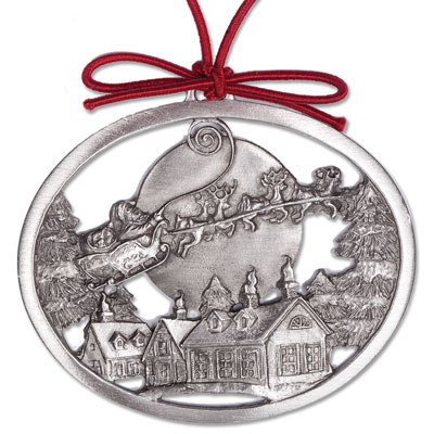 Image for Over the Rooftops Pewter Ornament from Littleton Coin Company