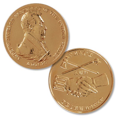 Image for Gold-Plated Andrew Jackson Medal from Littleton Coin Company