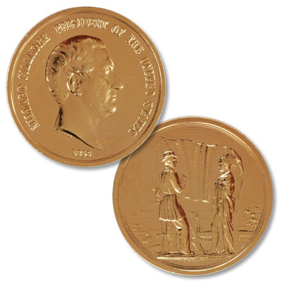 Image for Gold-Plated Millard Fillmore Medal from Littleton Coin Company