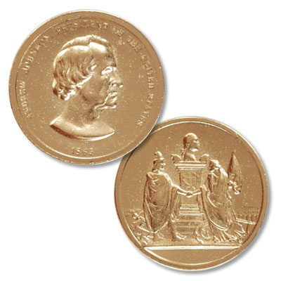 Image for Gold-Plated Andrew Johnson Medal from Littleton Coin Company