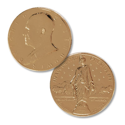 Image for Gold-Plated Dwight D. Eisenhower Medal from Littleton Coin Company