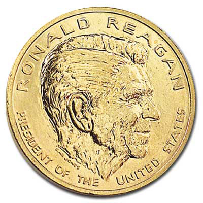 Image for Gold-Plated Ronald Reagan Medal from Littleton Coin Company