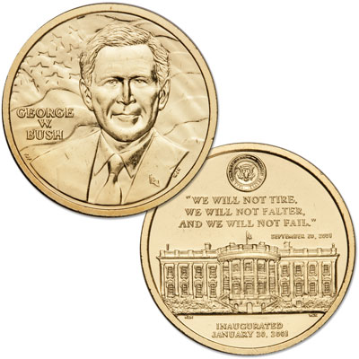 Image for Gold-Plated George W. Bush Medal from Littleton Coin Company
