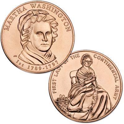 Image for 2007 Bronze Martha Washington Medal from Littleton Coin Company