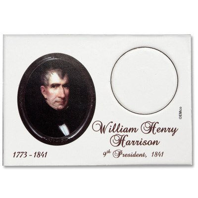 Image for Snaplock 1 Coin Holder - 2009 William Henry Harrison Presidential Dollar from Littleton Coin Company