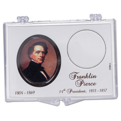Image for Snaplock 1 Coin Holder - 2010 Franklin Pierce Presidential Dollar from Littleton Coin Company