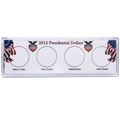 Image for Snaplock 4 Coin Holder - 2012 Presidential Dollars from Littleton Coin Company