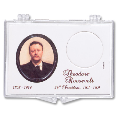 Image for Snaplock Coin Holder - 2013 Theodore Roosevelt Presidential Dollar from Littleton Coin Company