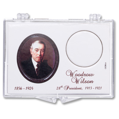 Image for Snaplock Coin Holder - 2013 Woodrow Wilson Presidential Dollar from Littleton Coin Company