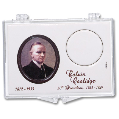 Image for Snaplock 1 Coin Holder - 2014 Calvin Coolidge Presidential Dollar from Littleton Coin Company