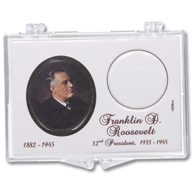 Image for Snaplock 1 Coin Holder - 2014 Franklin D. Roosevelt Presidential Dollar from Littleton Coin Company