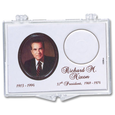 Image for Snaplock Coin Holder - 2016 Richard M. Nixon Presidential Dollar from Littleton Coin Company