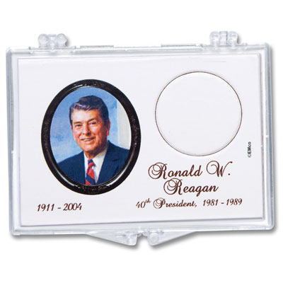 Image for Snaplock Coin Holder - Ronald Reagan Presidenitial Dollar from Littleton Coin Company