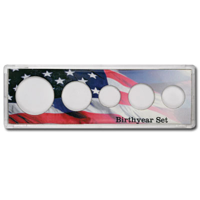 Image for 5-coin Birthyear Snaplock Holder from Littleton Coin Company