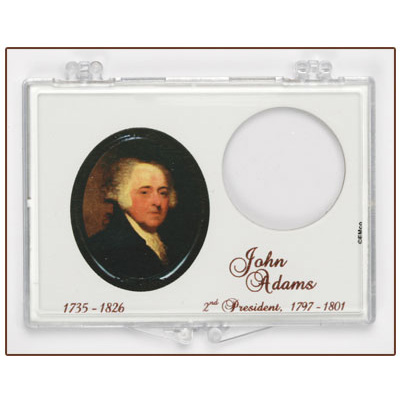 Image for Snaplock 1 Coin Holder - John Adams Presidential Dollar from Littleton Coin Company
