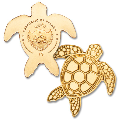 Image for Palau 1/2 gram Gold $1 Sea Turtle from Littleton Coin Company