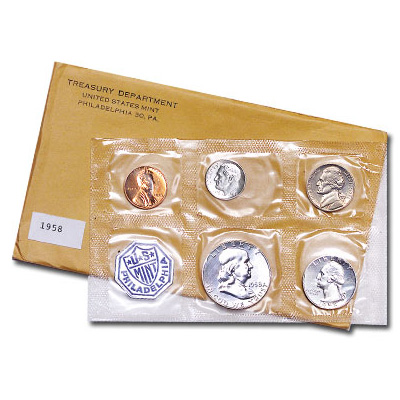 Image for 1958 U.S. Mint Silver Proof Set (5 coins), Choice Proof, PR63 from Littleton Coin Company