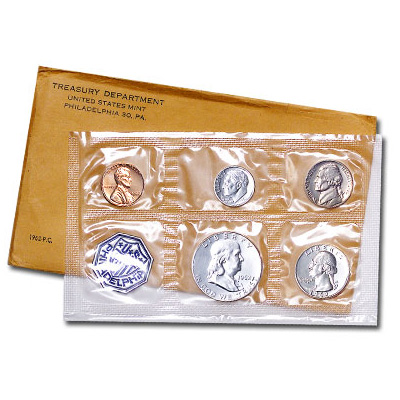 Image for 1962 U.S. Mint Silver Proof Set (5 coins), Choice Proof, PR63 from Littleton Coin Company
