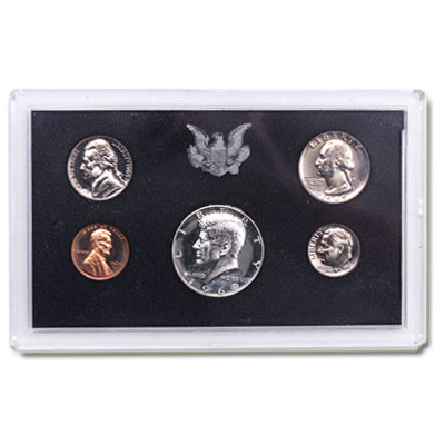 Image for 1969-S U.S. Mint Clad Proof Set (5 coins), Choice Proof, PR63 from Littleton Coin Company