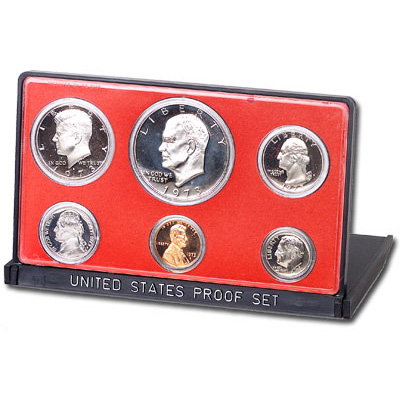 Image for 1973-S U.S. Mint Clad Proof Set (6 coins), Choice Proof, PR63 from Littleton Coin Company