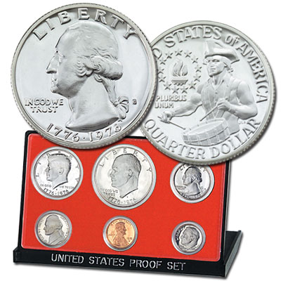 Image for 1976-S U.S. Mint Clad Proof Set (6 coins), Choice Proof, PR63 from Littleton Coin Company