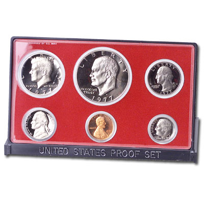 1977-S US Mint Proof Set With Original Packing-Black Box 6 Coin Set