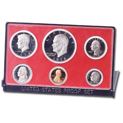 Image for 1978-S U.S. Mint Clad Proof Set (6 coins), Choice Proof, PR63 from Littleton Coin Company